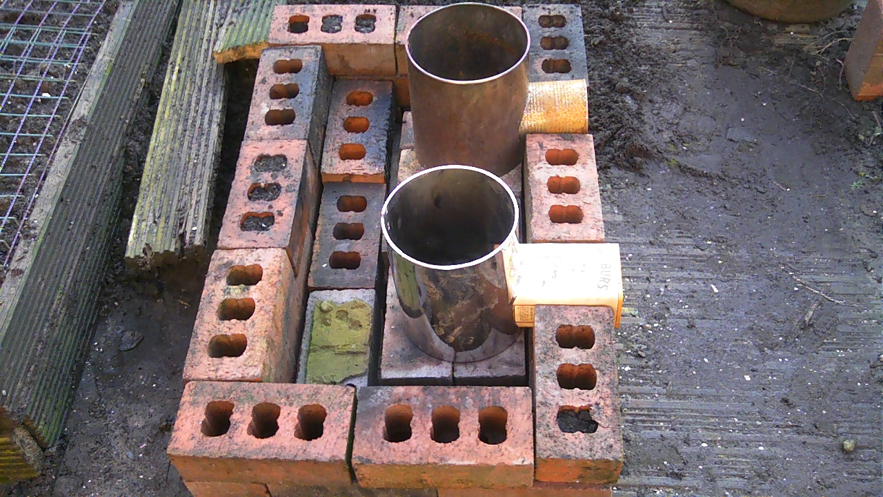 Stoves how to make a rocket stove for How to make a rocket stove with bricks