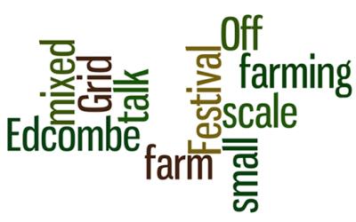 Film: Edcombe farm: small scale mixed farming – talk: Off Grid Festival 2012